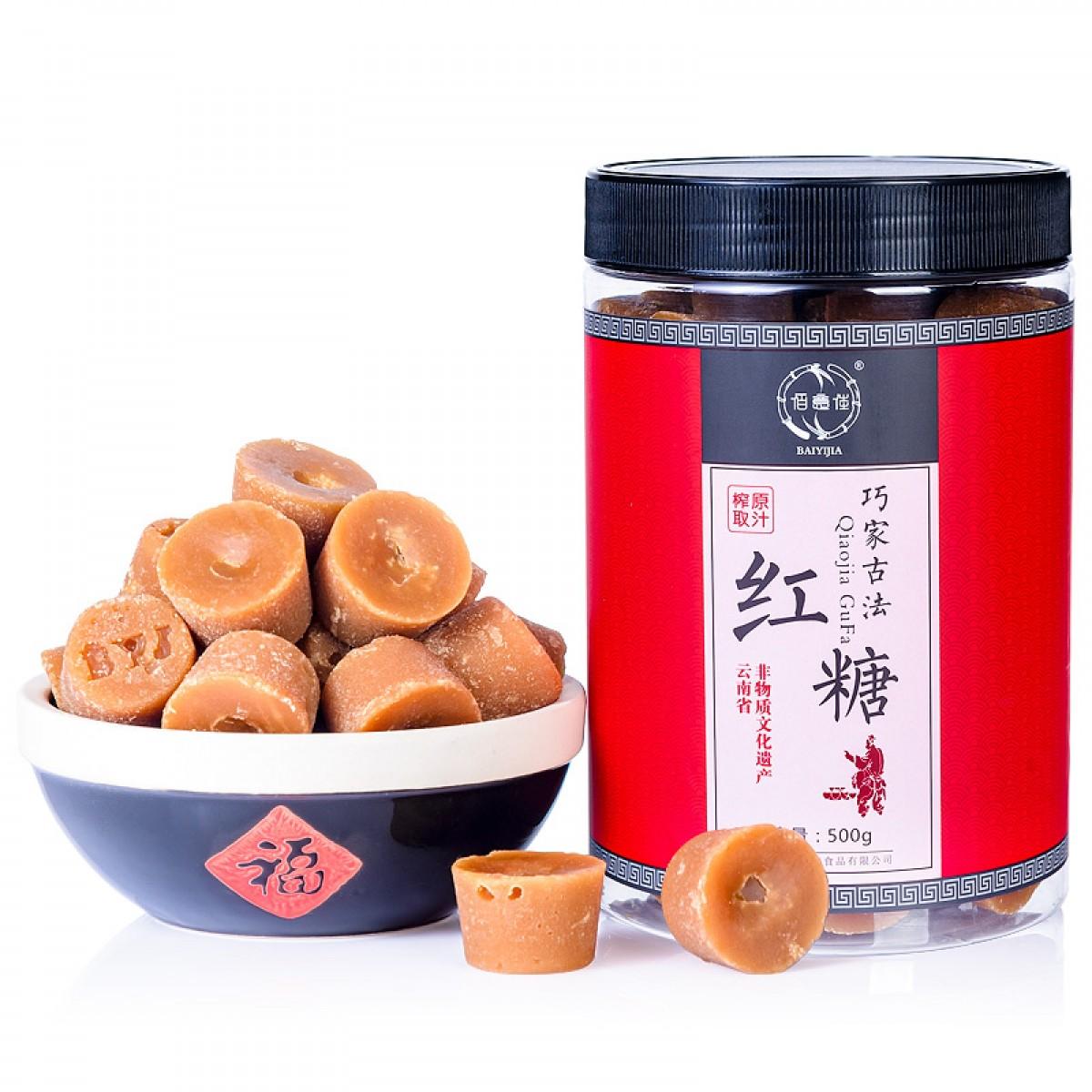 云南巧家罐装红糖500g