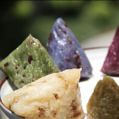 预售端午节粽子 七彩花米粽*7+流沙海鸭蛋*4,  净含量960克
